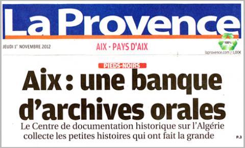 Le CDHA fait la une de la Provence