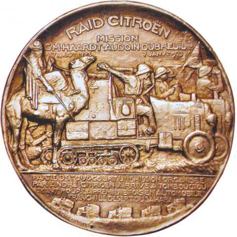 Médaille Raid Citroën