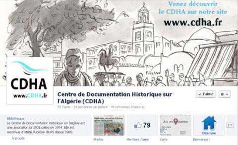 Page Facebook du centre de documentation historique sur l'Algérie