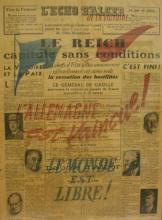 La une de l'Echo d'Alger du 8 mai 1945
